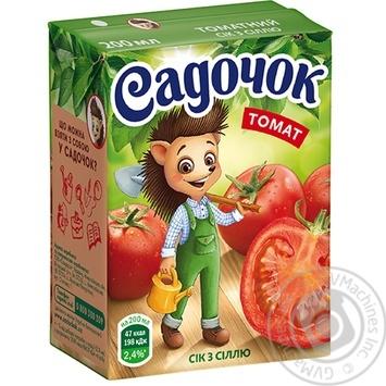 Сік Садочок томатний з сіллю 0,2л