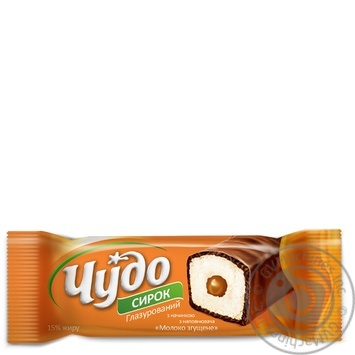 Cottage cheese Chudo with condensed milk in chocolate glaze 15% 36g - buy, prices for Furshet - image 1