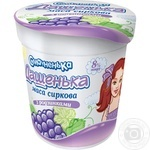 Cottage cheese Smachnenka Dashenka with raisins 8% 180g