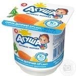 Творожок детский Агуша абрикос-морковь с 8 месяцев 3,9% 100г