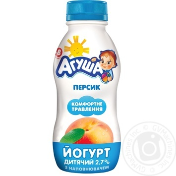 Agusha For Babies from 8 Months Peach Yogurt 2.7% 200g - buy, prices for Furshet - image 1