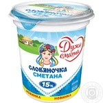 Сметана Слов'яночка 15% 345г - купити, ціни на Novus - фото 1