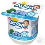 Творожок Агуша с черникой для детей с 6 месяцев 3,9% 100г
