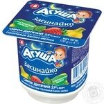 Agusha Baby strawberries-banana-melissa with cream cottage cheese 3.9% 100g