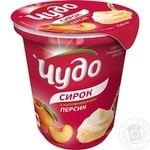 Chudo with peach shaken cottage cheese 5% 230g