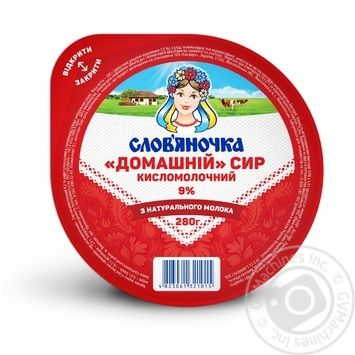 Творог Слов'яночка Домашний 9% 280г