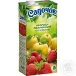 Сік Садочок яблучно-полуничний 0,95л