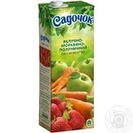 Sadochok apple-carrot-strawberry juice 1,45l