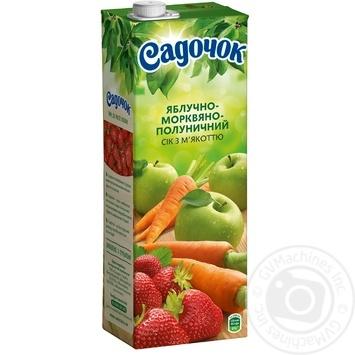 Сок Садочок яблочно-морковно-клубничный 1,45л