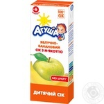 Reconstituted sterilized homogenized juice with pulp Agusha apple-banana for 6+ months babies 200ml