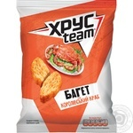 HrusTeam Baget Crackers with king crab taste 60g