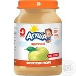 Agusha sugar free for children from 4 months apple puree 190g