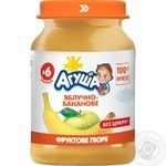 Agusha sugar free for children from 6 months banana-apple puree 190g