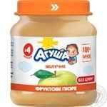 Puree Agusha apple sugar free for children from 4 months 110g