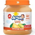 Puree Agusha pear with apple sugar free for children from 4 months 110g