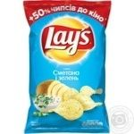 Lay's potato chips with sour cream and greens flavor 200g