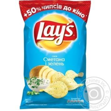 Чипсы Lay's со вкусом сметаны и зелени 200г