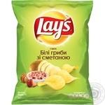 Чипсы Lay's со вкусом белых грибов и сметаны 71г