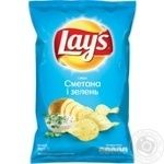 Lay's potato chips with sour cream and greens flavor 30g