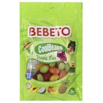 Цукерки жувальні Bebeto Круті Боби Тропічне асорті 60г