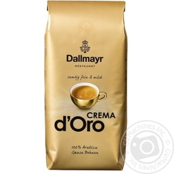 Coffee beans Dallmayr Crema d'Oro 100% Arabica 1kg - buy, prices for MegaMarket - image 1