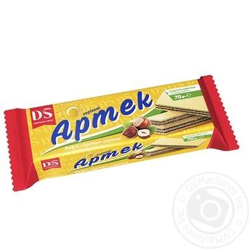 Вафли Домашне свято Артек с вкусом ореха 70г - купить, цены на Ашан - фото 1