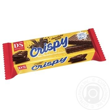 Вафли Домашне свято Crispy Хрустяшка со вкусом шоколада 72г - купить, цены на МегаМаркет - фото 1
