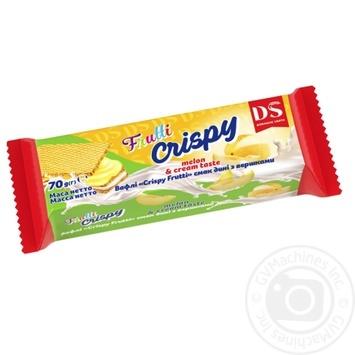 Вафли Домашне свято Crispy Frutti Дыня со сливками 70г - купить, цены на МегаМаркет - фото 1