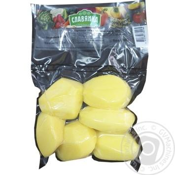 Картопля Славянка свіжа очищена мита ціла 1кг - купити, ціни на Ашан - фото 1
