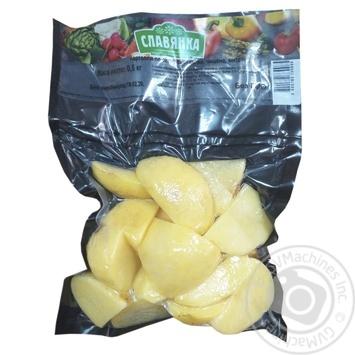 Картофель Славянка По-селянски чищенный мытый 500г - купить, цены на Фуршет - фото 1