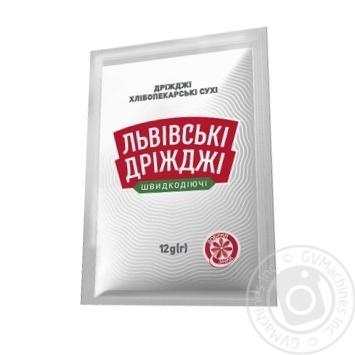 Дріжджі сухі Львівські 12г - купити, ціни на МегаМаркет - фото 1