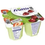 Продукт йогуртовый Fruttis Легкий 0,2% Клубника-Вишня 4х125г