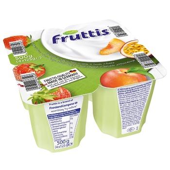 Продукт йогуртовый Fruttis Легкий 0,2% Клубника-Персик-Маракуйя 4х125г