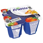 Campina Fruttis Yogurt product Creamy delight Strawberry and Peach-Passion Fruit 5.8% 4*125g