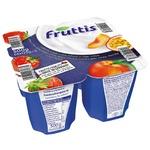 Продукт йогуртовый Fruttis Сливочное наслаждение 5,8% Клубника Персик-Маракуйя 4х125г
