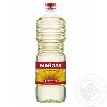 Масло Майола экстра подсолнечное рафинированное 0,85л - купить, цены на Novus - фото 1