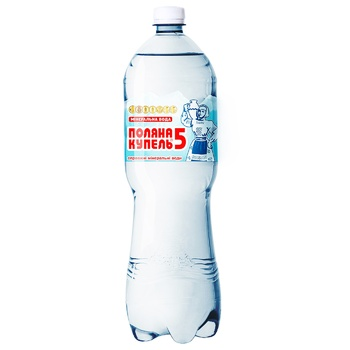 Sparkling medical-table mineral water Polyana 1,5l