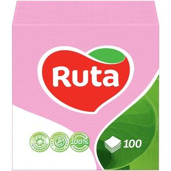 Paper napkins Ruta pink 1-ply 24*24cm 100pcs - buy, prices for  Vostorg - image 1