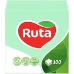 Paper napkins Ruta green 1-ply 24*24cm 100pcs - buy, prices for Furshet - image 1