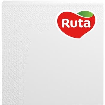 Серветки Ruta Колор білі паперові 3-шарові 33*33см 20шт - купити, ціни на ЕКО Маркет - фото 1