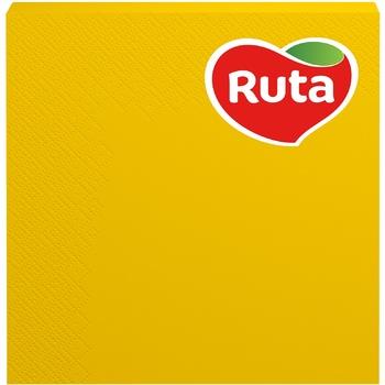 Салфетки столовые Ruta 3-слойные 33х33см 20шт в ассортименте