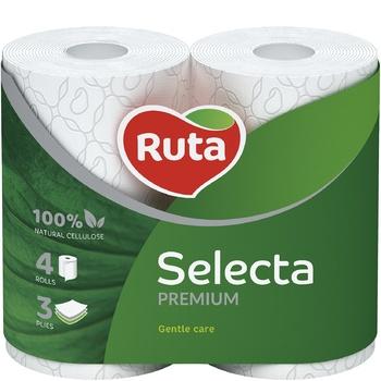 Ruta Selecta Toilet Paper Three-layer White 4pcs