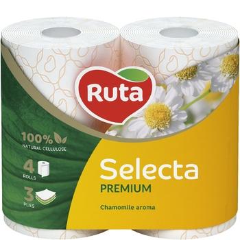Ruta Select Toilet Paper Three-layer Chamomile 4pcs