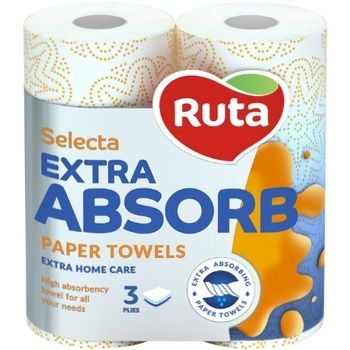 Ruta Select Paper Towels 3layer 2pc