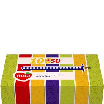 Салфетки  Рута косметические 20х21см 150шт - купить, цены на МегаМаркет - фото 1