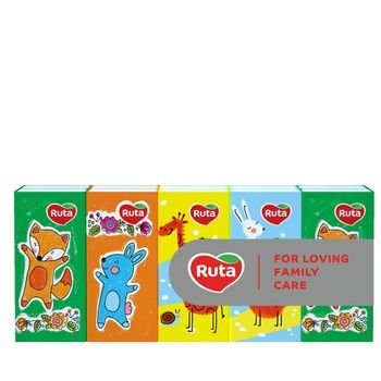Хустинки паперові Ruta дитячі тришарові 10шт - купити, ціни на Ашан - фото 1