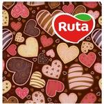 Салфетки столовые Ruta Art Сердце 2-слойные 33х33см 20шт в ассортименте