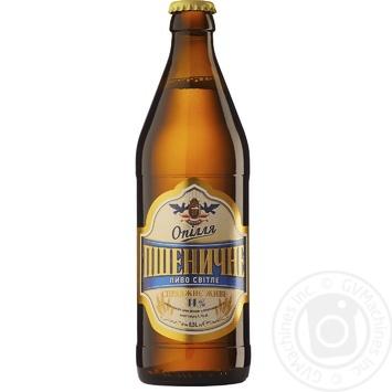 Пиво Опілля Пшеничное светлое 4,1% 0,5л - купить, цены на Фуршет - фото 1