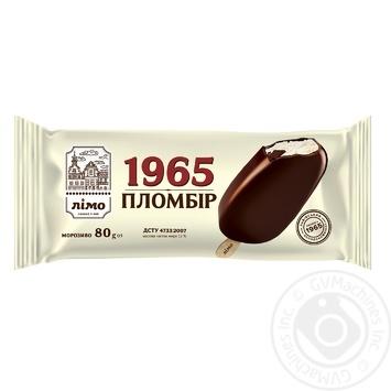 Мороженое Лимо Пломбир 1965 эскимо в шоколадной глазури 80г - купить, цены на МегаМаркет - фото 1