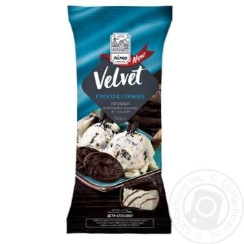 Мороженое Лимо Velvet шоколадное печенье 72г - купить, цены на Фуршет - фото 1